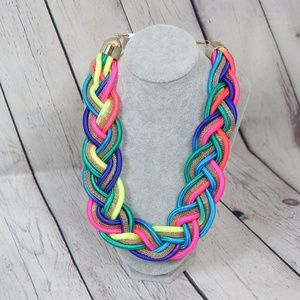 Jewelry - Braided Oversized Multicolor Necklace